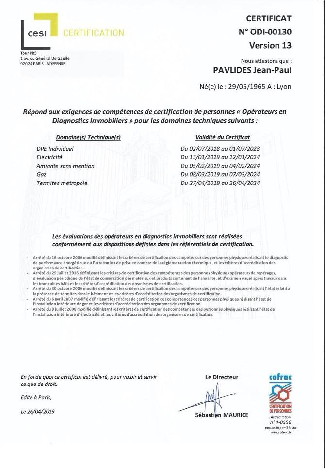 Certification AD2I